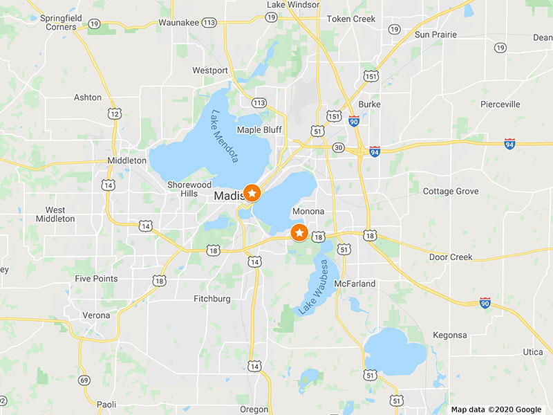 Brix Coworking Locations in Madison, Wisconsin and Monona, Wisconsin